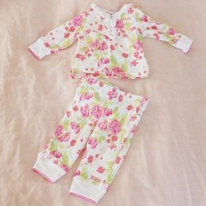 Juicy Couture 0-3 month floral ruffle pajamas